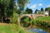 Canongate Bridge over Jed Water — Stock Photo