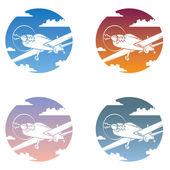 Aircraft icon set — Stock Vector