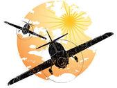 Aircraft grunge icon — Stock Vector