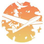 Sailplane icon — Stock Vector