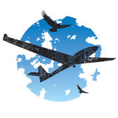 Sailplane grunge icon — Stock Vector