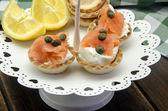 Smoked salmon tartare — Stock Photo
