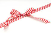 Red tie with white — Stock Photo