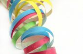 Paper streamers in different color — Stock Photo