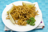 Fried whitebait — Stock Photo