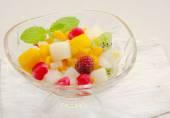 Gelatin fruit salad — Stock Photo