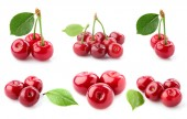 Collage cherry close-up. — Stock Photo