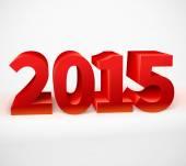 Nouvel an 2015 brillant 3d rouge — Vecteur
