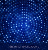 Abstract blue background with glowing dots — Stockvektor