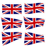 Set of british flags — Stock Vector