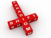 Paradigm shift crossword — Stock Photo