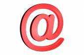 Three dimension sign of e-mail on business chart — Stock Photo