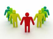 Social network community men team — Stock Photo