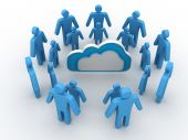 Cloud business network — Stock Photo