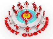 Targeted Marketing to find and choose the best customer in a group of people — Stock Photo