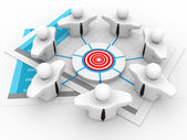 Target Business Network — Stock Photo