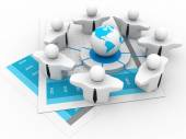 Global Business Network — Stock Photo