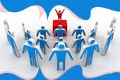 3d team leader boss company — Stock Photo