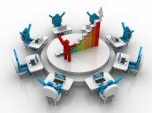 Success business graph — Stock Photo