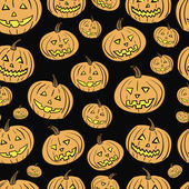 Pumpkin Halloween seamless texture — Stock Vector