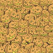 Pumpkin Halloween around — Stock Vector