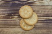 Cookies on wood — Stock Photo
