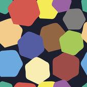 Curve polygons seamless texture — Vecteur