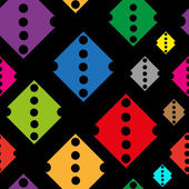 Color rhombuses with holes — Stok Vektör