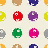Polygonal color faces — Stock Vector