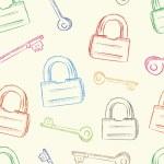 Постер, плакат: Colorful locks and keys