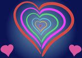 Hypnotic heart — Stock Vector