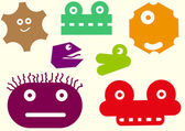 Heads of monsters — Stock Vector