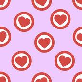 Hearts in circles — Stock Vector