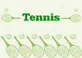 Tenis — Vector de stock