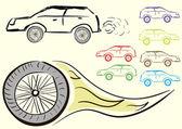 Car clipart — Stock Vector