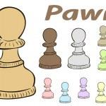 Постер, плакат: Chessman pawn