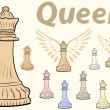 Постер, плакат: Queen chessman clipart
