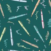 Naadloze gekleurde pennen — Stockvector