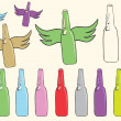 Постер, плакат: Clipart with bottles