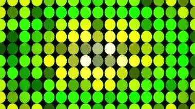 абстрактные зеленые круги высвечивания — Стоковое видео