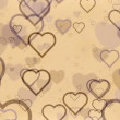 Abstract Hearts on a light brown vintage background — Stock Video #62354089