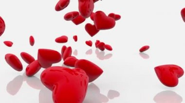 Abstract Red Hearts — Stock Video