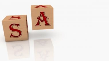Wooden cubes with inscription SALE — Stock Video