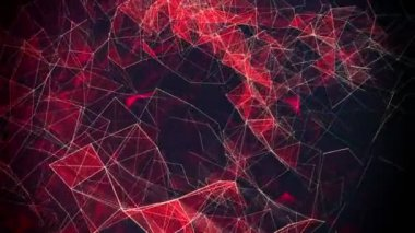 Abstract triangles in red on black — Stock Video