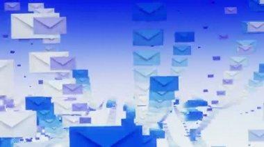 Envelopes in rows — Stock Video