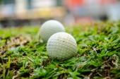 Bílý golfový míček — Stock fotografie