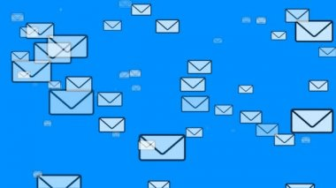 Mail Flying (Email Envelopes) — Stock Video