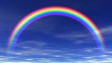 レインボー ・美しい空 — ストックビデオ