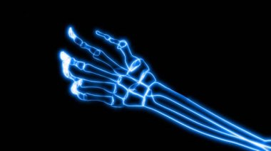 X-Ray of Human Hand Grasping (HD) — Stock Video