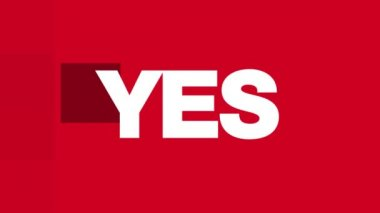 YES,  NO,  MAYBE ? Text Animation (HD Loop) — Wideo stockowe